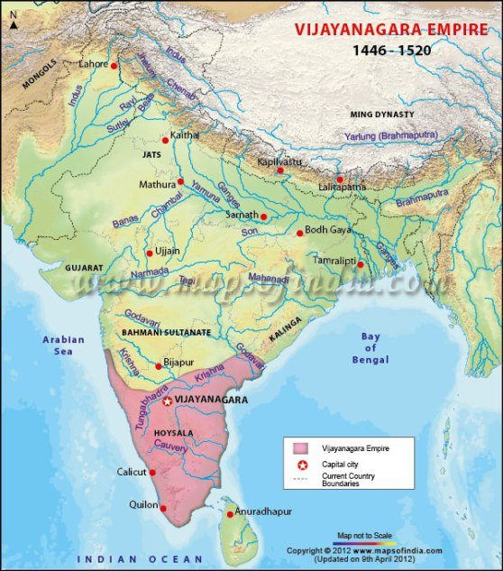 vijayanagara-empire-map